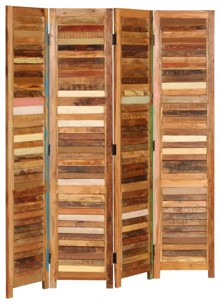 246411 vidaXL Paravan de cameră, 170 cm, lemn masiv reciclat