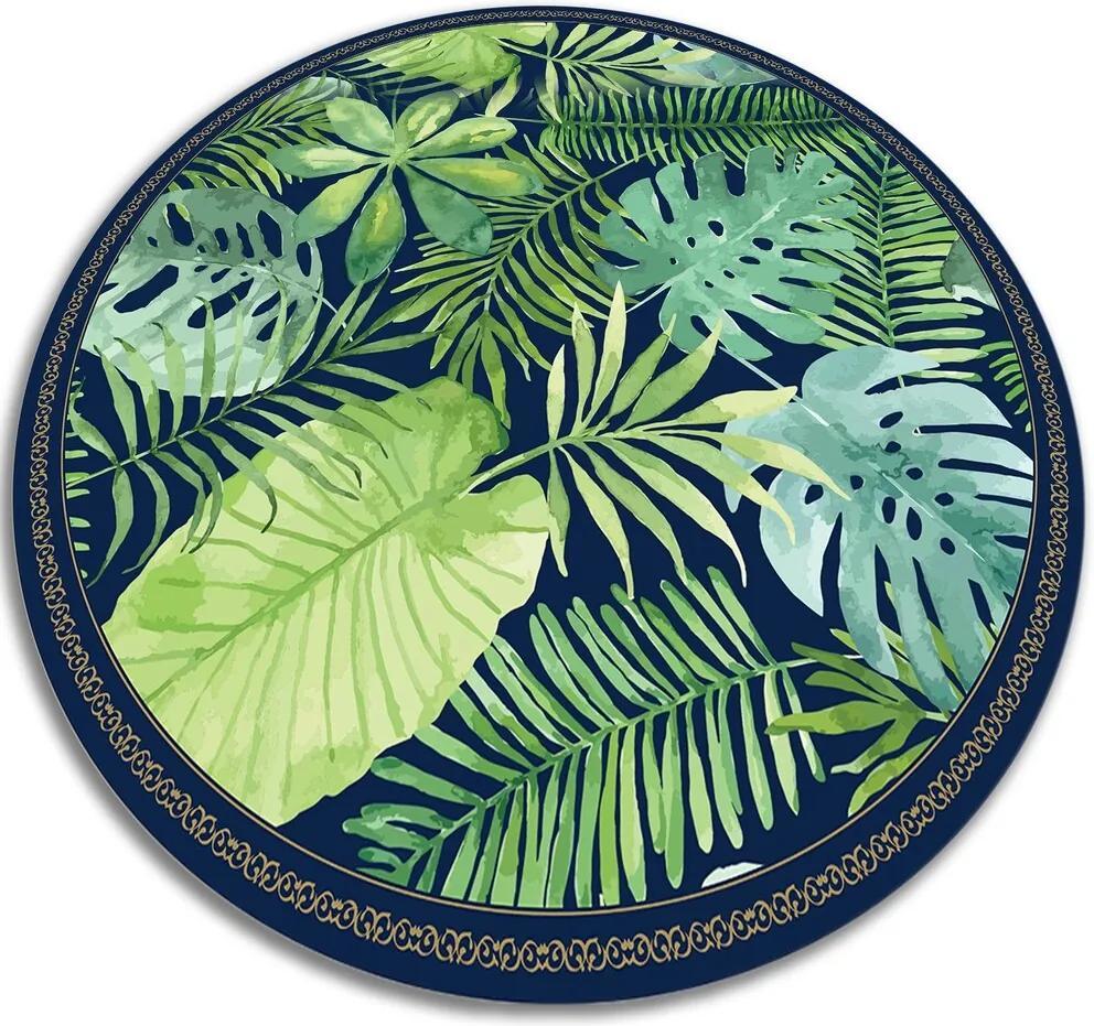 Covor de vinil frunze tropicale