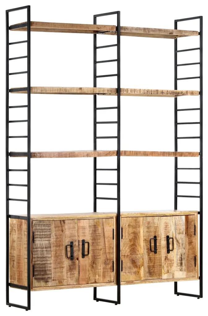 284418 vidaXL Bibliotecă cu 4 rafturi, 124x30x180 cm, lemn de mango nefinisat