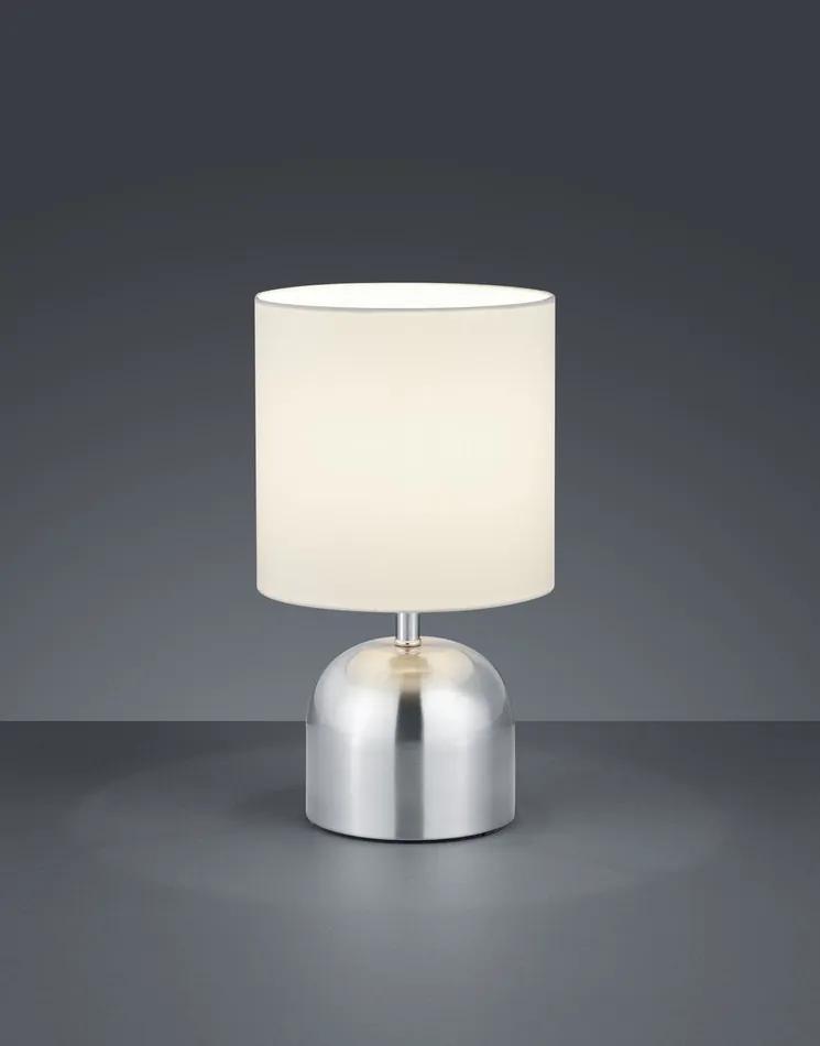 Trio R59071007 Lampa de masa de noapte JAN nichel mat metal excl. 1 x E14, max. 40W IP20