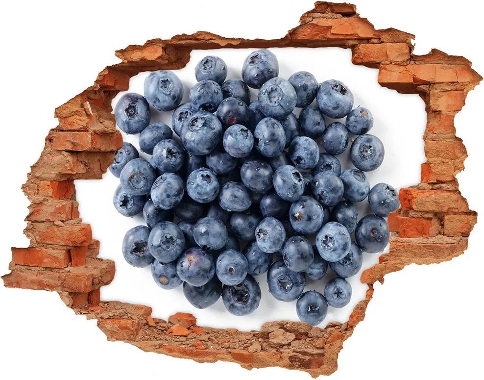 Autocolant un zid spart cu priveliște Fructe de padure furnir