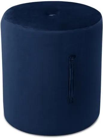 Puf Mazzini Sofas Fiore, ⌀ 40 cm, albastru