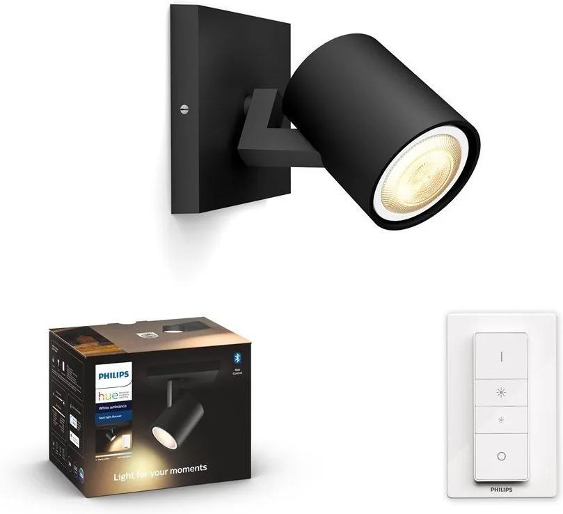Philips 53090/30/P6 - LED Lampă dimmabilă Hue RUNNER 1xGU10/5W/230V + Telecomandă