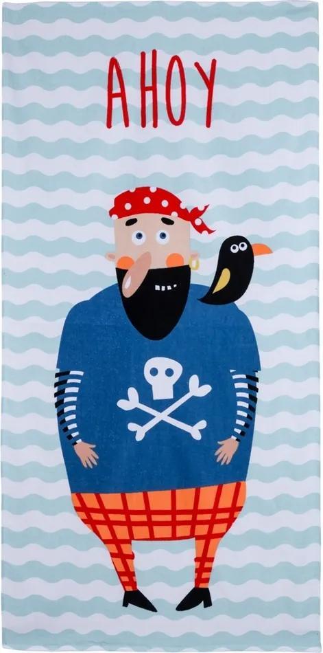 Prosop de plajă Ahoj Pirate, 70 x 140 cm