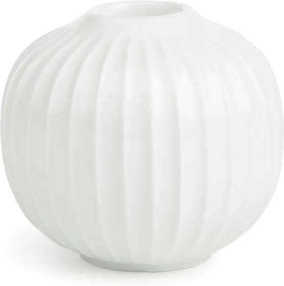 Sfeșnic din porțelan Kähler Design Hammershoi, alb, ⌀ 7,5 cm