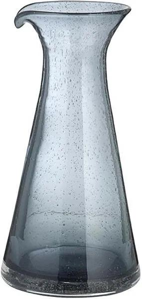 Carafa Gri din Sticla Bubble - Sticla Gri Diametru(12.5 cm) x Inaltime(24.5 cm)