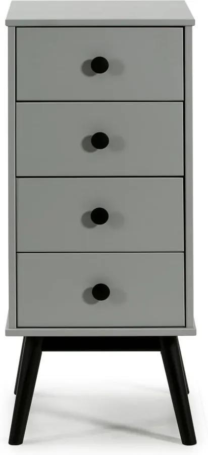 Comodă cu sertare Marckeric Clem, 40 x 94 cm, gri