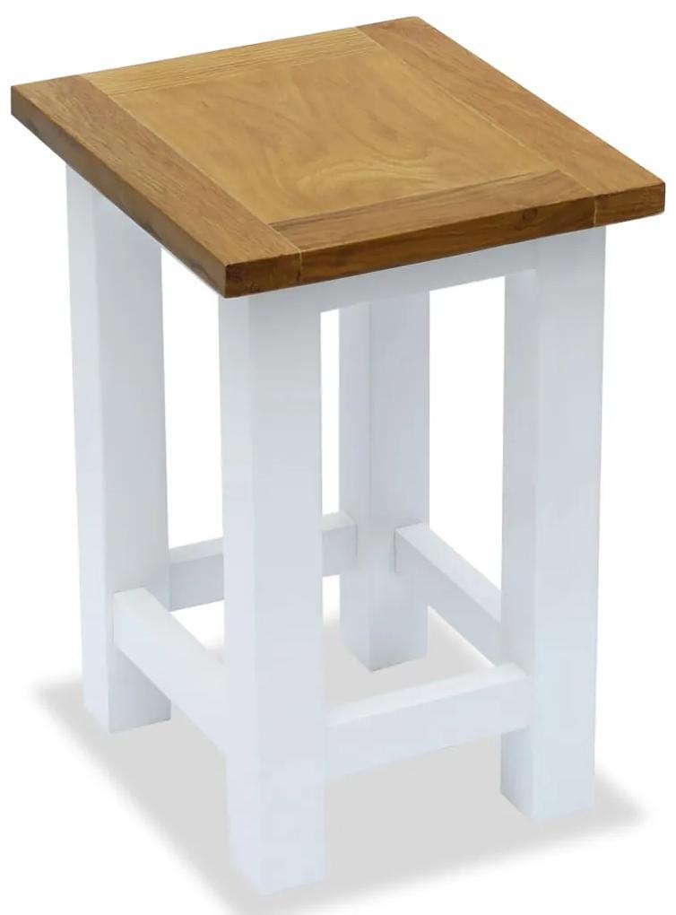 247052 vidaXL Masă de capăt, 27 x 24 x 37 cm, lemn masiv de stejar