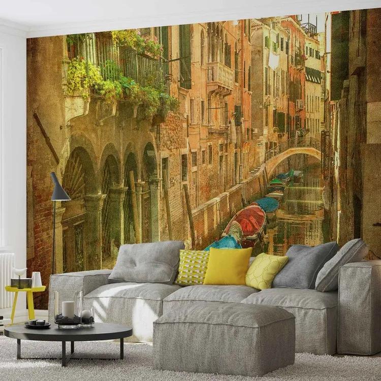 City Venice Canal Fototapet, (416 x 254 cm)