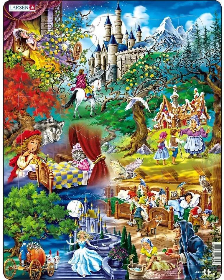 Puzzle Larsen Poveştile fraţilor Grimm, 33 piese