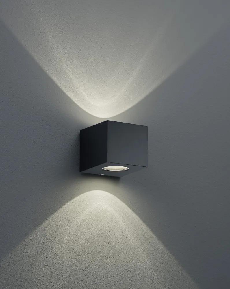 Trio CORDOBA R28222632 Aplice pentru iluminat exterior negru mat incl. 2 x 2W LED, 3000K, 2 x 200Lm ↕ 9cm/ ↔ 9,8cm/ ↗ 10,5cm
