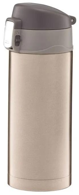 Cana termica 300ml cu buton de siguranta auriu Glossy