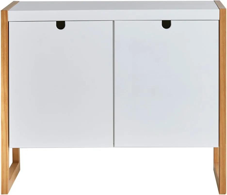 Comodă Marckeric Square, 90 x 75 cm, alb