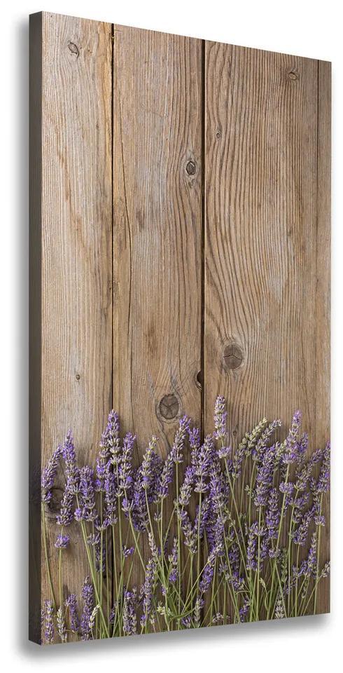 Imprimare tablou canvas Lavandă pe lemn