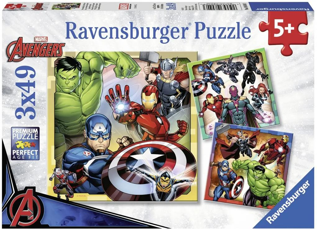 Puzzle Copii 5Ani+ Marvel Avengers 3x49 piese