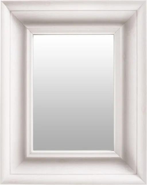 Oglinda dreptunghiulara cu rama din polistiren alba Scott, 45,5cm (L) x 36,5cm (L) x 5,2cm (H)
