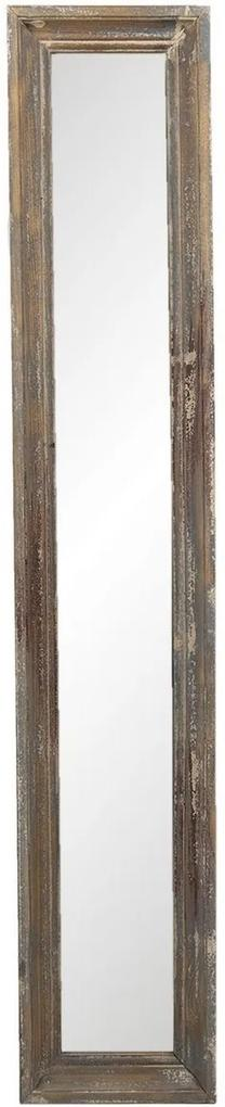 Oglinda de perete cu rama din lemn maro antichizat 23 cm x 4 cm x 128 h