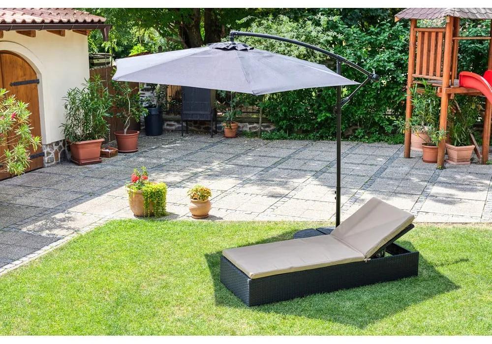 Umbrelă de soare fără suport Le Bonom Happy Sun, ø 300 cm, negru