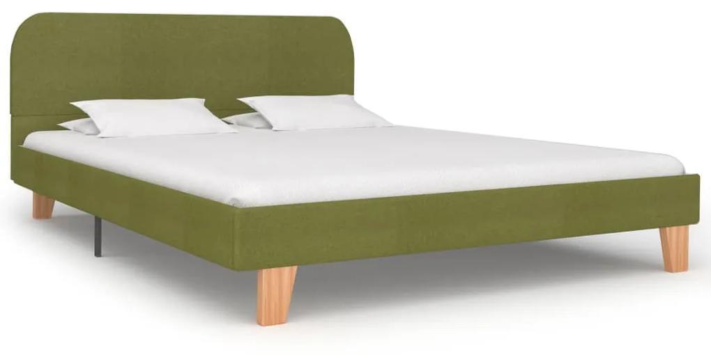 280883 vidaXL Cadru de pat, verde, 140 x 200 cm, material textil