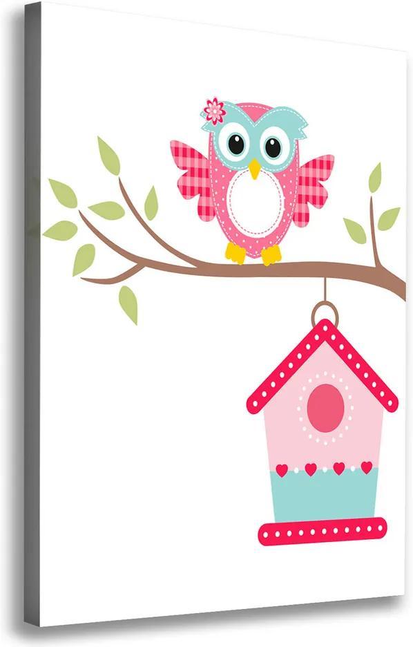 Tablou canvas Owl pe o ramură