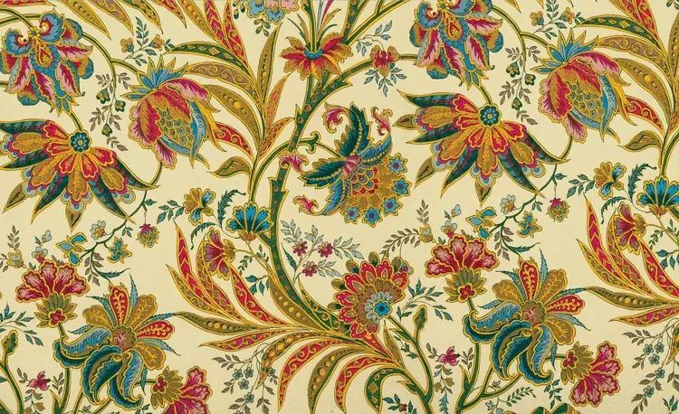 Flowers Plants Pattern Vintage Fototapet, (368 x 254 cm)