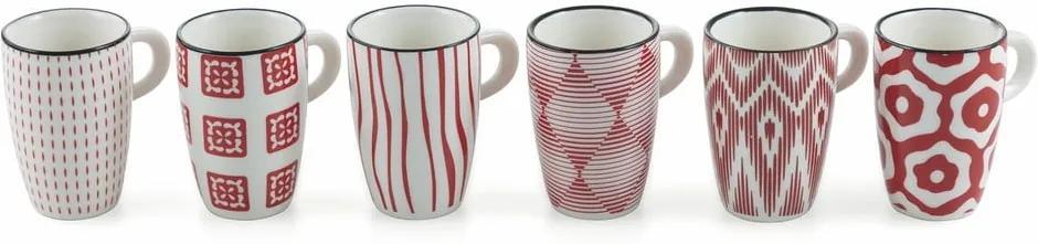 Set 6 căni din ceramică Villa d´Este Confusion, roșu