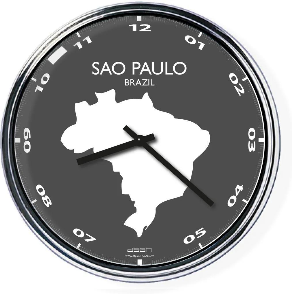 Ceas de birou (deschis sau întunecat) - Sao Paulo / Brazilia, diametru 32 cm | DSGN, Výběr barev Světlé