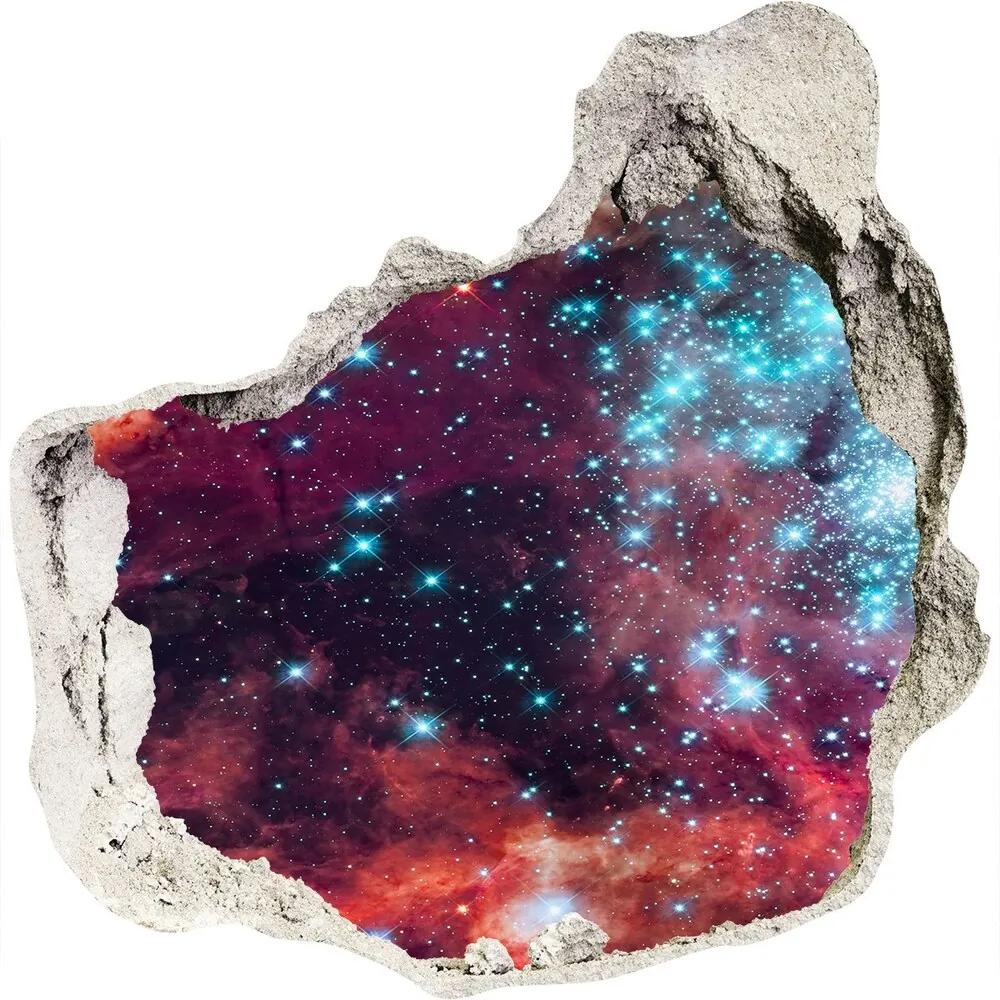 Fototapet un zid spart cu priveliște Nor Magellanic