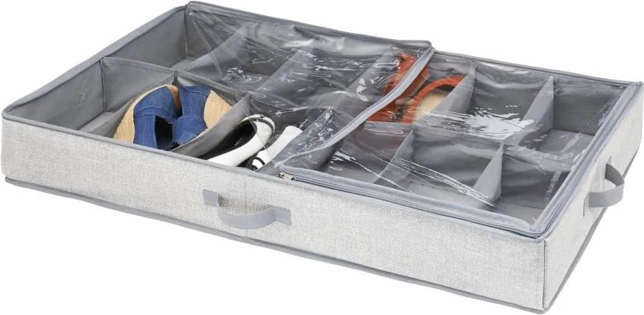 Cutie pentru depozitare sub pat, pentru pantofi, iDesign Aldo