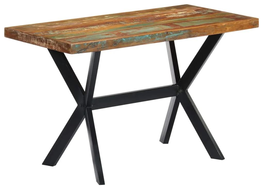 247443 vidaXL Masă de bucătărie, 120 x 60 x 75 cm, lemn masiv reciclat