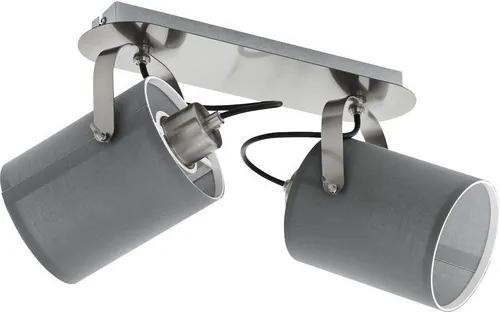 Spotlight Villabate, metal/textil, gri, 9 x 12 x 9 cm, 10w