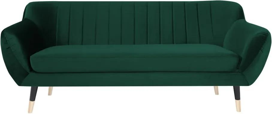 Canapea cu 2 locuri Mazzini Sofas BENITO cu picioare negre, verde