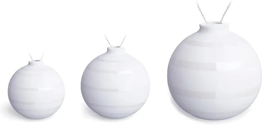 Set 3 globuri de Crăciun din ceramică Kähler Design Omaggio, alb