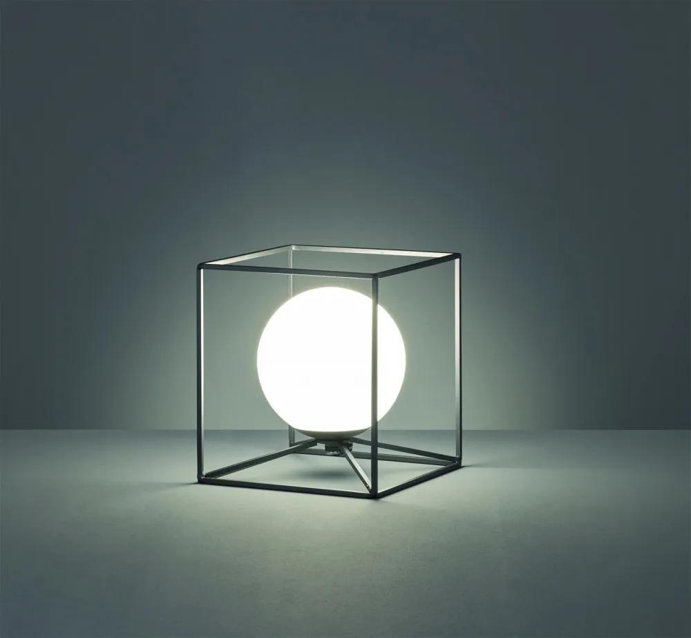 Trio R50401932 Veioze, Lampi de masă negru mat excl. 1 x E14, max. 40W ↕ 22cm/ ↔ 20cm/ ↗ 20cm