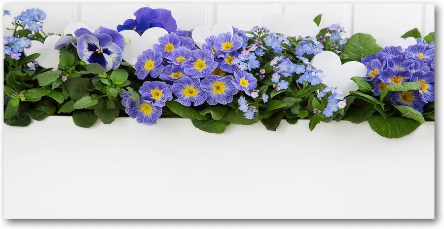 Tablou pe acril Flori albastre
