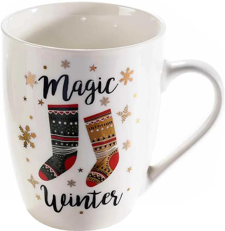 Cana portelan model Magic Winter Ø 8 cm x 11 H 350 ml