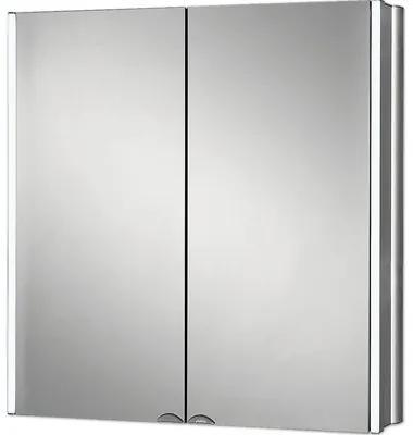 Dulap cu oglinda Jokey Lyndalu, iluminare LED, 65x68 cm, aluminiu, IP 20