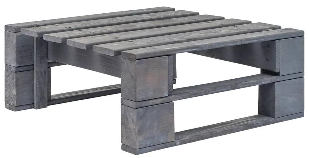 44696 vidaXL Taburet de grădină din paleți, gri, lemn