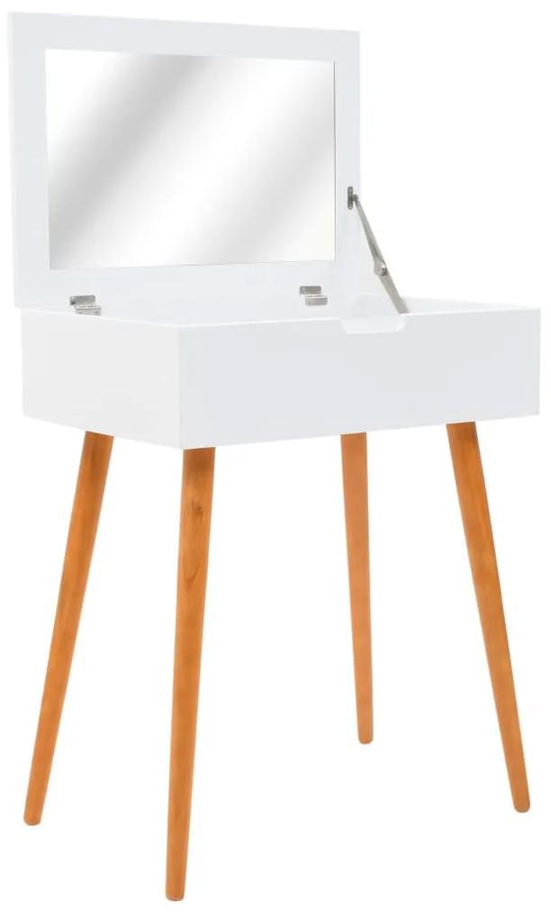 245751 vidaXL Masă de toaletă cu oglindă, MDF, 60 x 40 x 75 cm