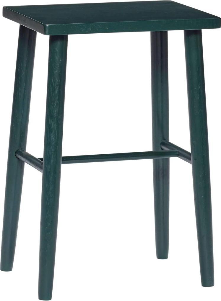 Taburet din Lemn Vopsit Verde - Lemn Verde Lungime(35 cm) x Latime(25 cm) x Inaltime(52 cm)