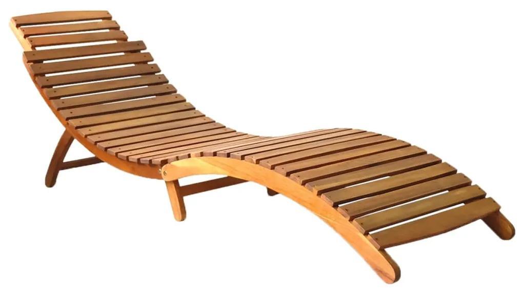 46650 vidaXL Șezlong, maro, lemn masiv de acacia