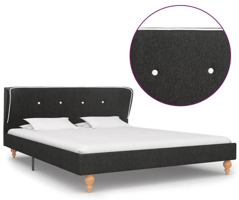 280569 vidaXL 280569  Bed Frame Dark Grey Burlap 140x200 cm - Untranslated