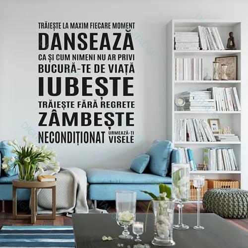 Sticker pentru perete - Traieste la maxim! 118x150 cm