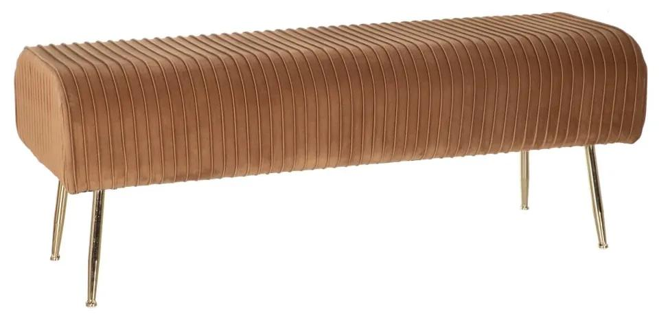 Bancheta catifea maro 129 cm Julia Brown