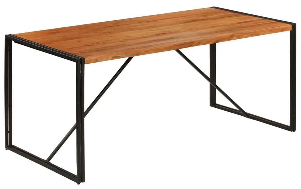 246352 vidaXL Masă bucătărie 180x90x76cm lemn masiv acacia finisaj palisandru