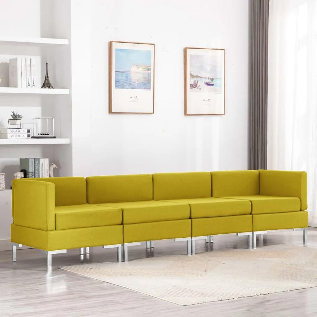 3052806 vidaXL Set de canapele, 4 piese, galben, material textil