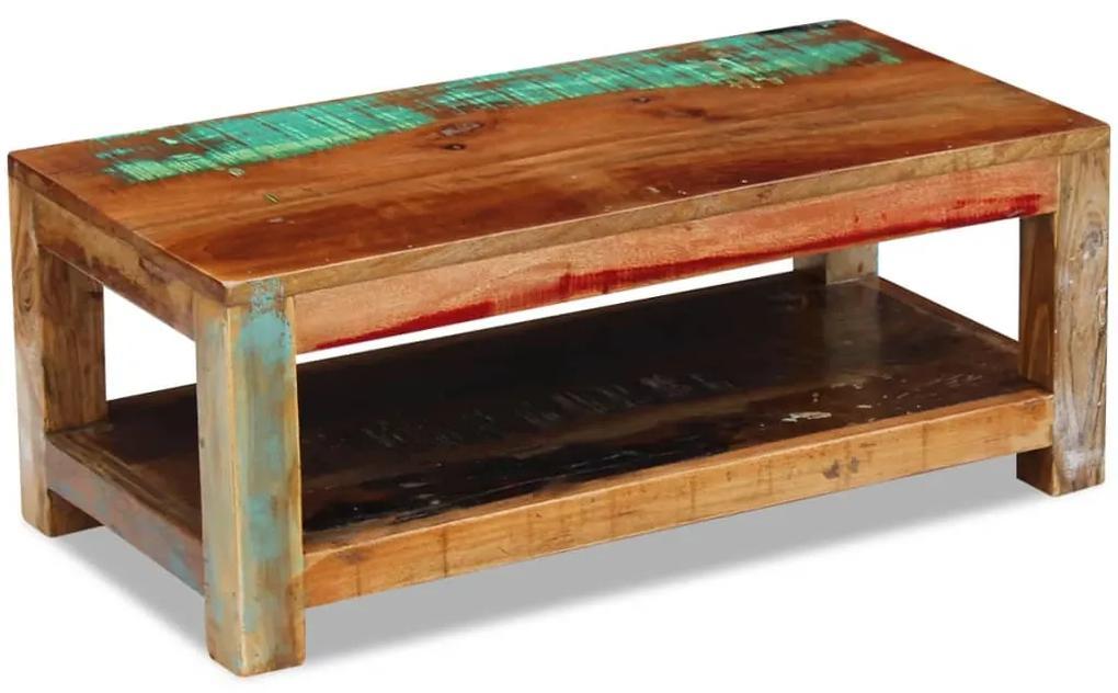 243322 vidaXL Măsuță de Cafea Lemn Solid Reciclat 90x45x35 cm