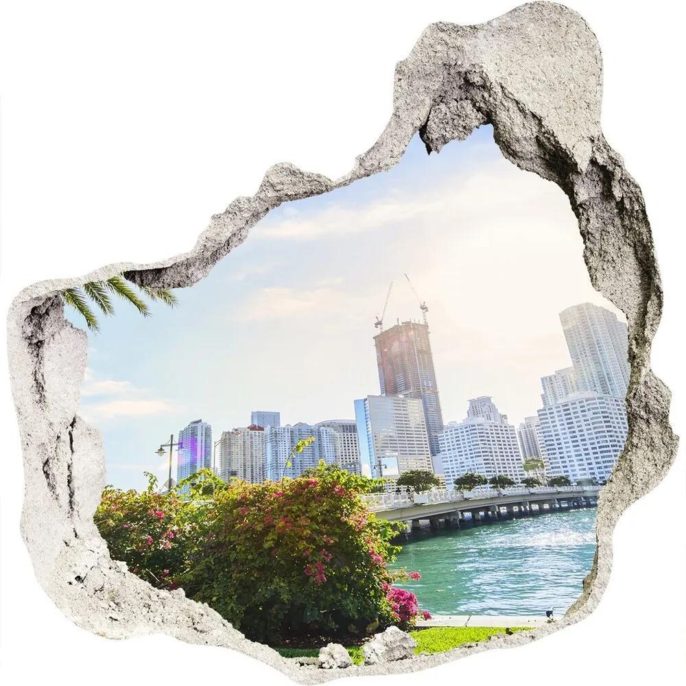 Fototapet un zid spart cu priveliște Miami Statele Unite ale Americii