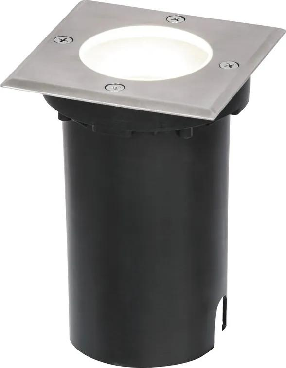 Rábalux Tacoma 8714 Incastrate in pamant oțel inoxidabil gri GU10 1X MAX 50W 11 x 15 x 11 cm