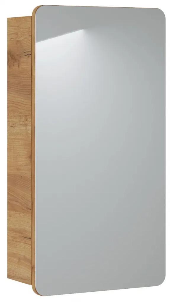 Corp suspendat cu oglinda Lucas 40 cm Stejar sonoma, 16 cm, 84cm, 75 cm